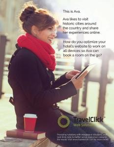 TravelClick Magazine ad