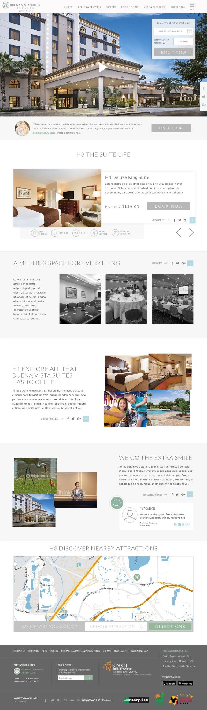 Buena Vista Suites Homepage concept