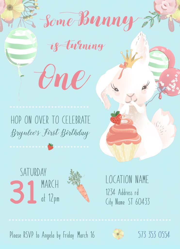 Brynlee Birthday Invite V1
