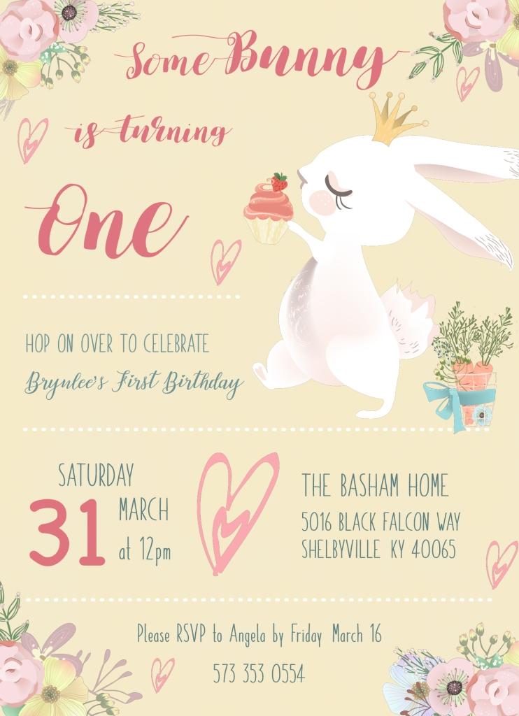 Brynlee Birthday Invite V3 Front